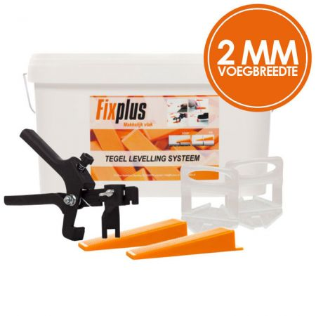 Fix Plus Levelling Systeem 2mm Kit 250